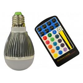 BOMBILLA LED 4W E27 RGB C/MANDO