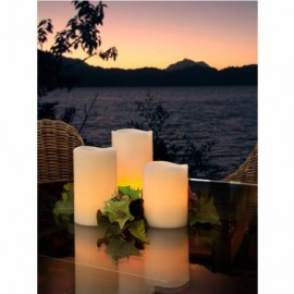 SET 3 VELAS BLANCO