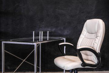 Sillón y mesa de oficina diseño